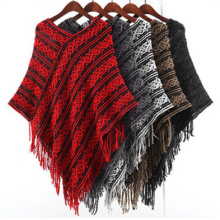 Womens Pullover Cardigan Wraps Winter Strickschals Poncho (SP616)
