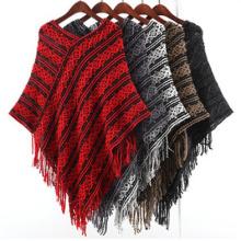 Cardigan Femme Wraps Poncho Tricoté Châles D'hiver (SP616)