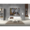 Zebra Wall Art Wildlife Grassland Animal Oil Painting