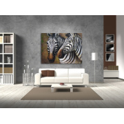 Zebra Wildlife Art Prairies animaux huile peinture murale