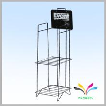 Custom design library display metal wire newspaper rack