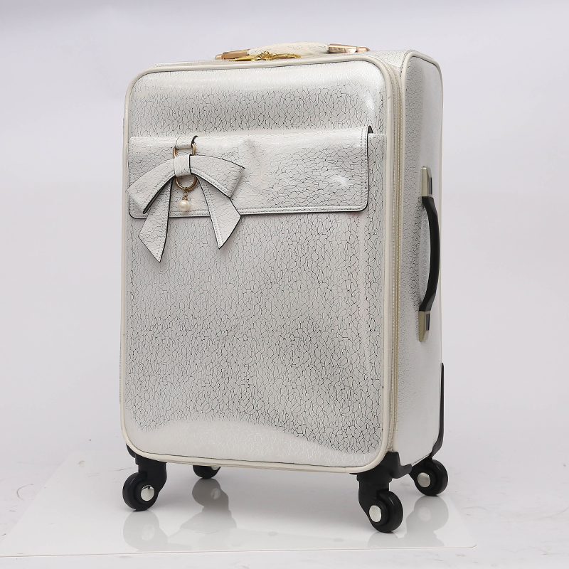 Travel trolley luggage PU leather