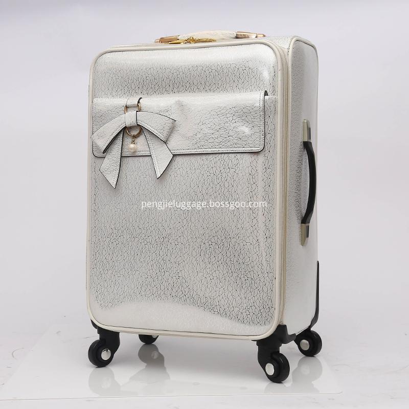 Travel trolley luggage PU leather