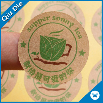 Adesivos de papel Kraft adesivos como Pacote de alimentos Mark