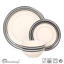 18PCS Custom Handpainted Stoneware Dinner Set