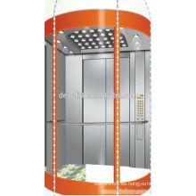 800kg Elevador panorámico comercial con el vidrio