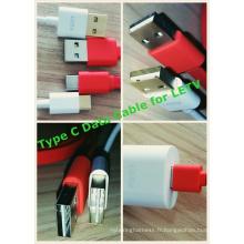 Non directionnel du câble de données USB2.0 mâle au type C pour le smartphone Le2