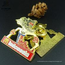 Изготовленный На Заказ Подарка Промотирования Логоса Эмаль Золото Pin Отворотом Металла Значка Штыря