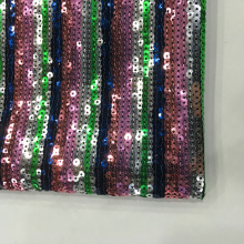 New Stripe Design Multicolor Sequin Embroidery Fabric