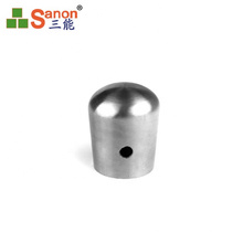 Accept Custom Stainless Steel Pipe Connectors Railings  Handrail End Caps 16mm