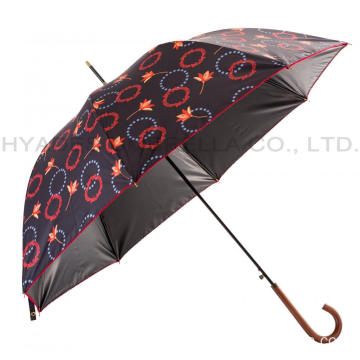 Frauen Picot Lace Auto Open Dome Umbrella