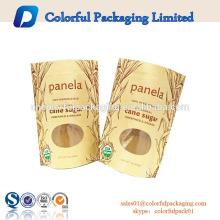 Kraft braun Lebensmittelqualität stehen Beutel Snack getrocknete Lebensmittel Verpackung zip Papier