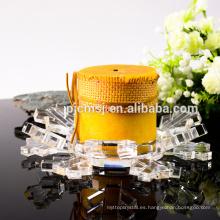 Durable usando candelabros de vidrio cristalino de estilo europeo de bajo precio a la venta