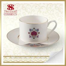 Wholesale creative ceramic turkish coffee mug, cup with saucer