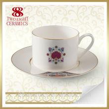 Por atacado caneca de café turco cerâmica criativa, copo com pires