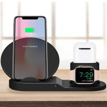 3 في 1 Fast Qi Wireless Charger قياسي