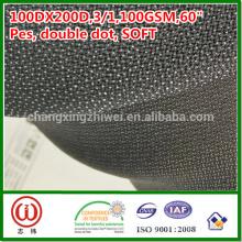 100% poliéster macio handfeel 100gsm tecido interlining fusível