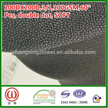 Handfeel 100% polyester tissé 100gsm tissé entoilage fusible