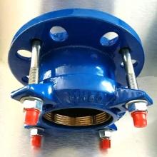 Adaptador de flange restrito à tração para tubo HDPE