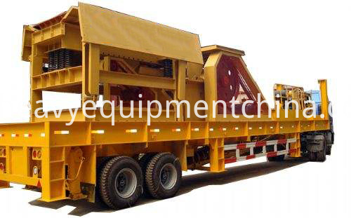 Mobile Rock Crushing Machine