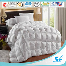 Single Size Cotton Down Duvet / Comforter with White Duck Down, Washed Breathable Comforter for Home