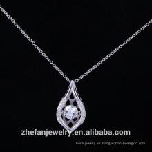 Colgante del baile de plata esterlina 925 con aaa proveedor de zirconia cúbica