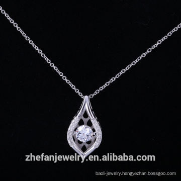 925 sterling silver dancing pendant with aaa cubic zirconia supplier