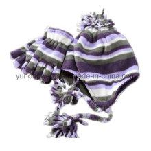 Customized Lady Knitting Winter Warm Printed Polar Fleece Set