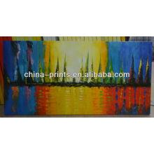 Couteau de qualité du musée OIL Peinture avec des couleurs fraîches