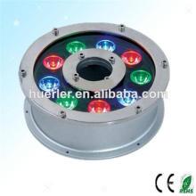 HIGH POWER 9W 12w RGB conduit lumière de pêche sous-marine 12v