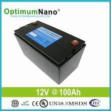 Батарея lifepo4 глубокого цикла батареи 12В 100ач