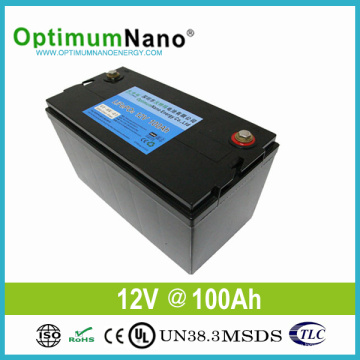 Deep Cycle Lithium Battery 12V 100ah for Solar Light