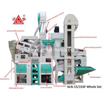 hubei xianliang 24 ton por dia mini máquina de arroz moinho