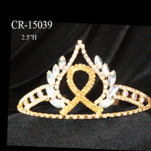 Cheap AB Rhinestone Ribbon Pageant Tiaras