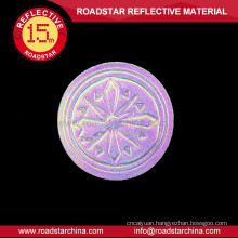 Colorful brilliant reflector leather for jeans