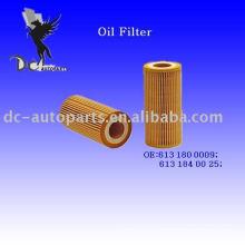 Элемент масляного фильтра Вставить 613 180 0009 для Мерседес-Benz