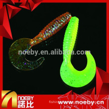 customized soft plastic bait reflector moon tail fishing lures