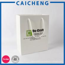 Bolsa de papel recubierta barata de impresión personalizada con el logotipo impreso