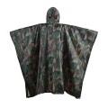 Wasserdichte Camouflage Ripstop Regenjacke Regen Poncho