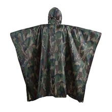 Waterproof Hooded PVC Army Raincoat Rain Poncho