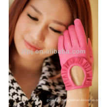 2013 glove fashion accessory short fingered leather gloves