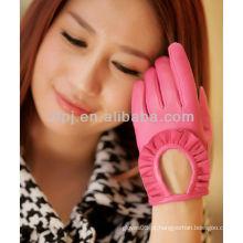 2013 luva moda acessório curto dedo luvas de couro