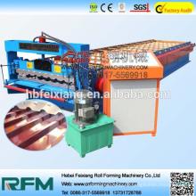 Máquina de formação de rolos painel de telhado de alumínio em alumínio em fibra de vidro ondulado