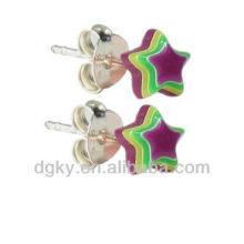 Design elegante estrela forma acrílica orelha studs