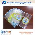 Customized laminated plastic packaging pouch ODM small zipper transparent nylon bags nylon packaging bags