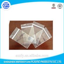 Fabricante personalizado cremallera bolsa de plástico transparente