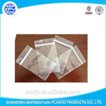 Fabricante Custom Zipper Bolsa de plástico transparente
