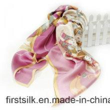 Silk Georgette Digitaler bedruckter Stoff Schal