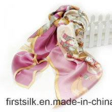 Echarpe en tissu imprimé en soie Georgette