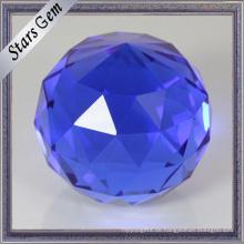 Runde Einzelpunkt blaue Farbe Facetten Gesicht K9 Glaskugel Perlen für Handwerk